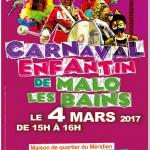 CARNAVALM ENFANTIN DE MALO LES BAINS DU 04 MARS 2017