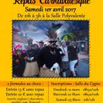 REPAS CARNAVALESQUE 2017 DE BROUCKERQUE